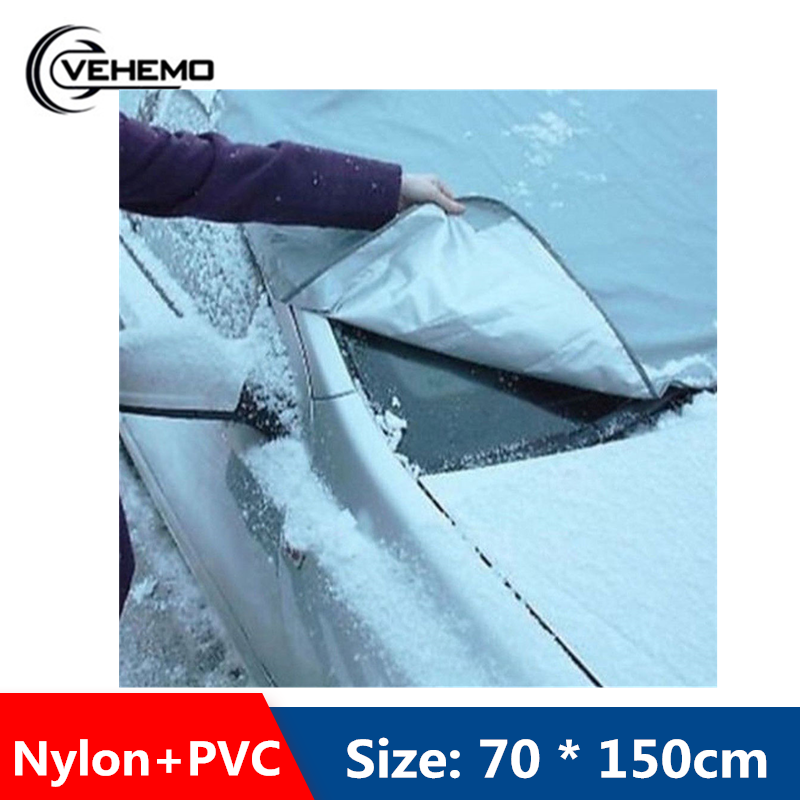 Vehemo Front Window Car SunShade Windshield Sunshade Sun Shield Cover Car Windshield For Snow Winter Auto Sun Visor Portable