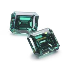 7*9mm Starszuan zielony 3ct Moissanite koralik Test pozytywny kamień Moissanite do tworzenia biżuterii tanie tanio green Grzywny emerald