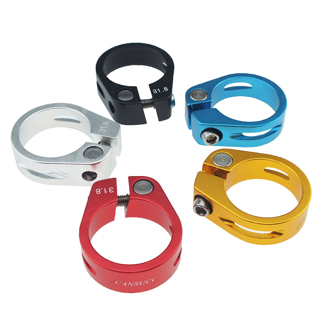 Bike Seat Post Clamp, Aluminum Alloy Ultralight Bicycle Lock Seat Clamp Cycling Part Seatpost Clip - 31.8mm Diameter Bike Parts