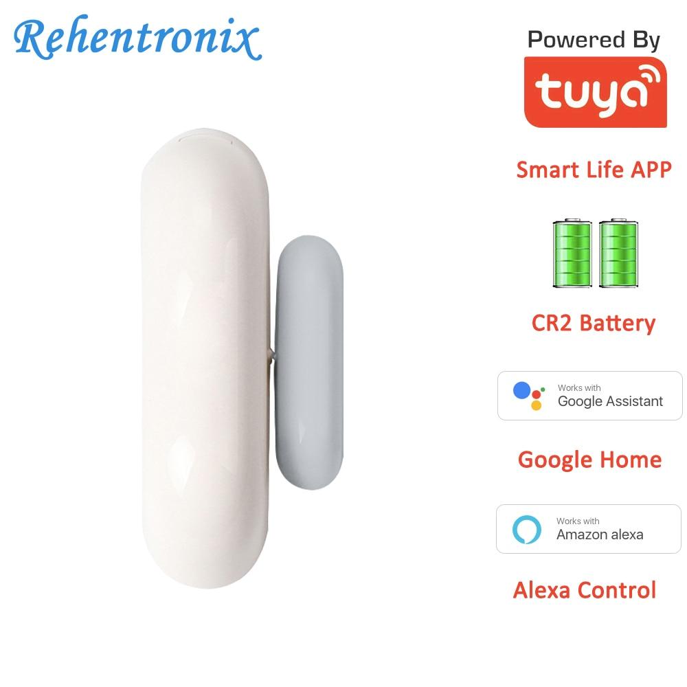 Tuya Smart Battery WiFi Door Window Contact Sensor Works With Alexa Google Home Voice Control Check Open Close Status