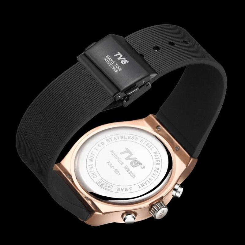 Купить часы мужские кварцевые с двойным дисплеем деловые водонепроницаемые