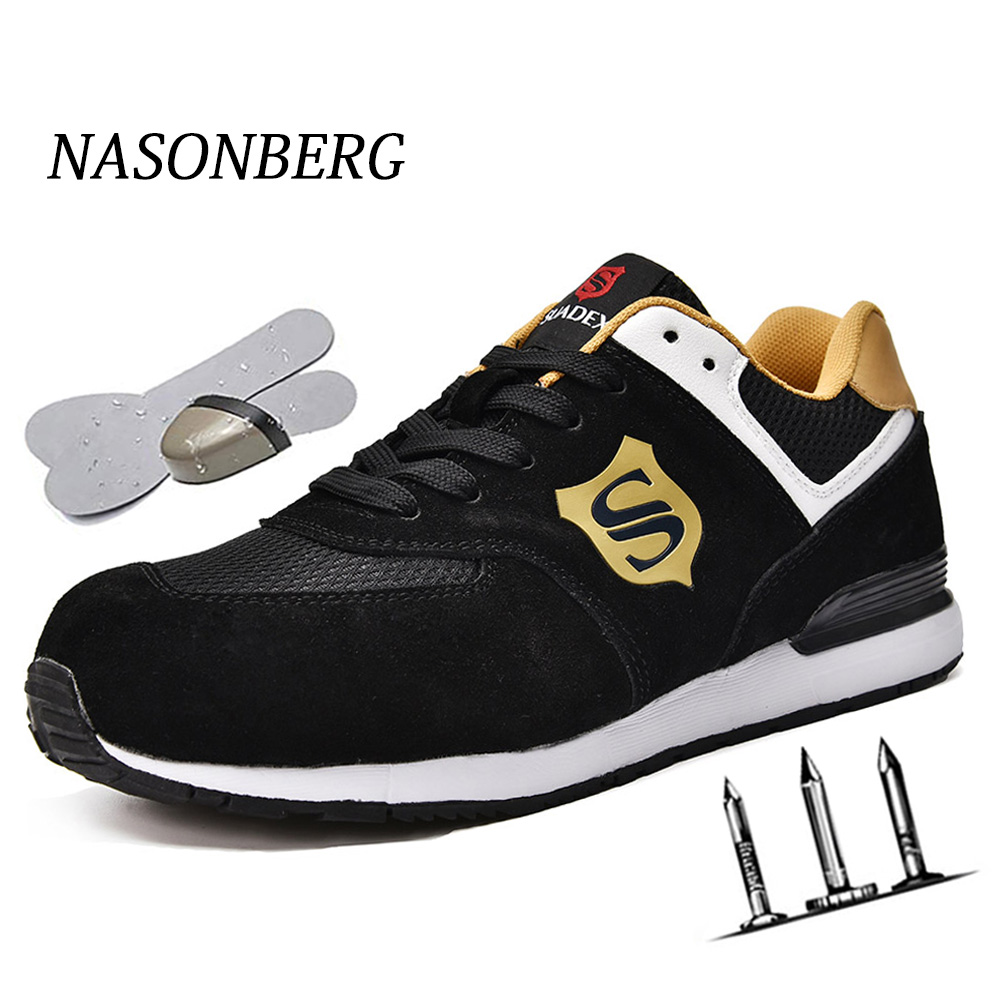 NASONBERG Indestructible Shoes Work Sneakers Breathable Shoes Men And Women Steel Toe Air Safety Boots Puncture-Proof