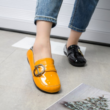 Woman Loafers Shoes Design-Style Plus-Size Luxury Brand Striking Soft-Bottom Patent