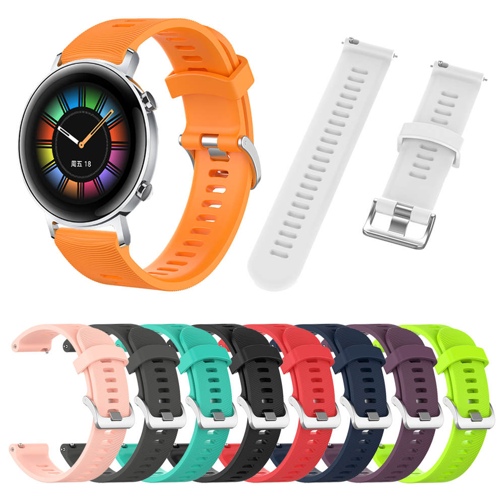 Silicone Strap Band For HUAWEI WATCH GT 2 42mm Sport / Classic / Elegant Edition WristStrap Replaceable Accessories Watchband