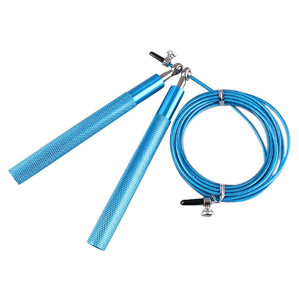 Скоростная скакалка, регулируемый стальной кабель, фитнес-упражнения, боксерский тренажер, тренажерный зал, кроссфиты, портативная скакалк...