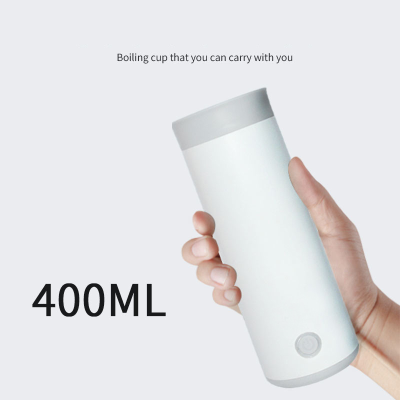 Portable Travel Electric Water Kettle Mini Thermos Smart Teapot Heating Cup Milk Boiling Boiler Stainless Steel Metal Bottle