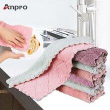 Anpro, 4 шт./лот, 8 шт./лот, домашнее супер впитывающее полотенце из микрофибры, Кухонное плотное полотенце, салфетка для мытья стола, кухонное полотенце