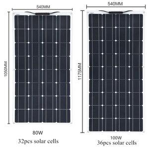 Image 2 - XINPUGUANG 2PCS 4PCS 1175*540mm Solar Panel 18V 100W Mono Cell Flexible Car/Yacht/Steamship 12V 24 Volt 100 Watt Solar Battery