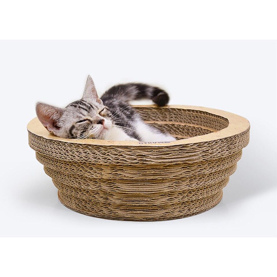 Скребок для кошек, гнездо для кошек, гофрированный бумажный картон, гнездо для кошек, миски для кошек, гофрированная миска для кошек, Круглый