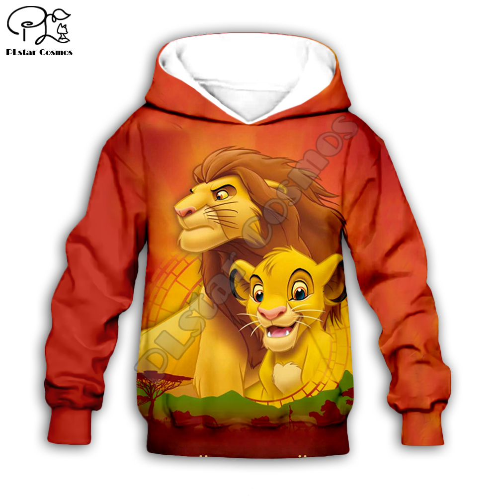 Kids The Lion King Cartoon Simba Hoodies Tshirt Baby 3D Print Mufasa Zipper Sweatshirts Boy Girl HAKUNA MATATA Pullover Pants