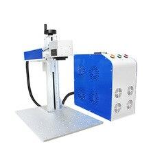 MChuang 30 Вт металлическая именная Табличка Из Нержавеющей Стали Портативная мини оптическая волоконная лазерная маркировочная машина