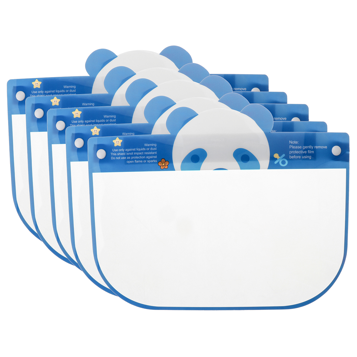 5PCS Kids Full Face Shield Mask Protective Visor Face Mask Plastic Anti Splash Anti saliva Dust-proof Full Face Cover 3