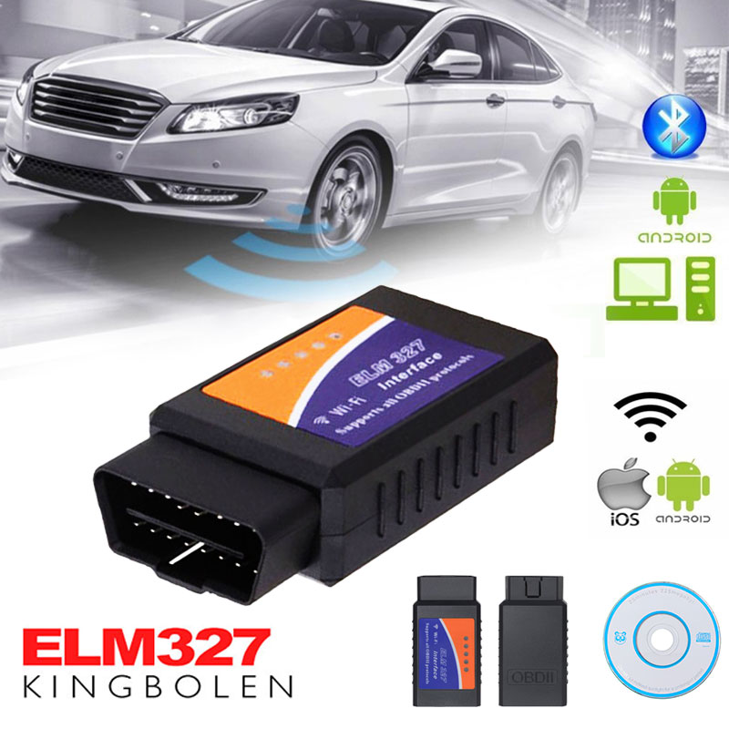 Car Code Reader ELM <font><b>327</b></font> obd2 scanner OBDII Wifi elm327 <font><b>v1.5</b></font> obd 2 Bluetooth Auto Fault Diagnostic Scanner Tool image