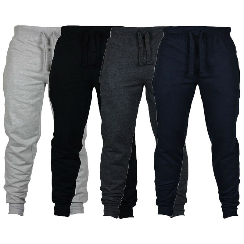 2019 New Men Joggers Pants Male Trousers Casual Pants Sweatpants Jogger Grey Casual Elastic Cotton GYMS Fitness Workout Exercise