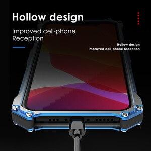 Image 5 - יוקרה מתכת שריון מקרה עבור iPhone 12 מקס 12 פרו 11 פרו מקסימום להגן על כיסוי עבור iPhone 11ProMax קשה עמיד הלם Coque