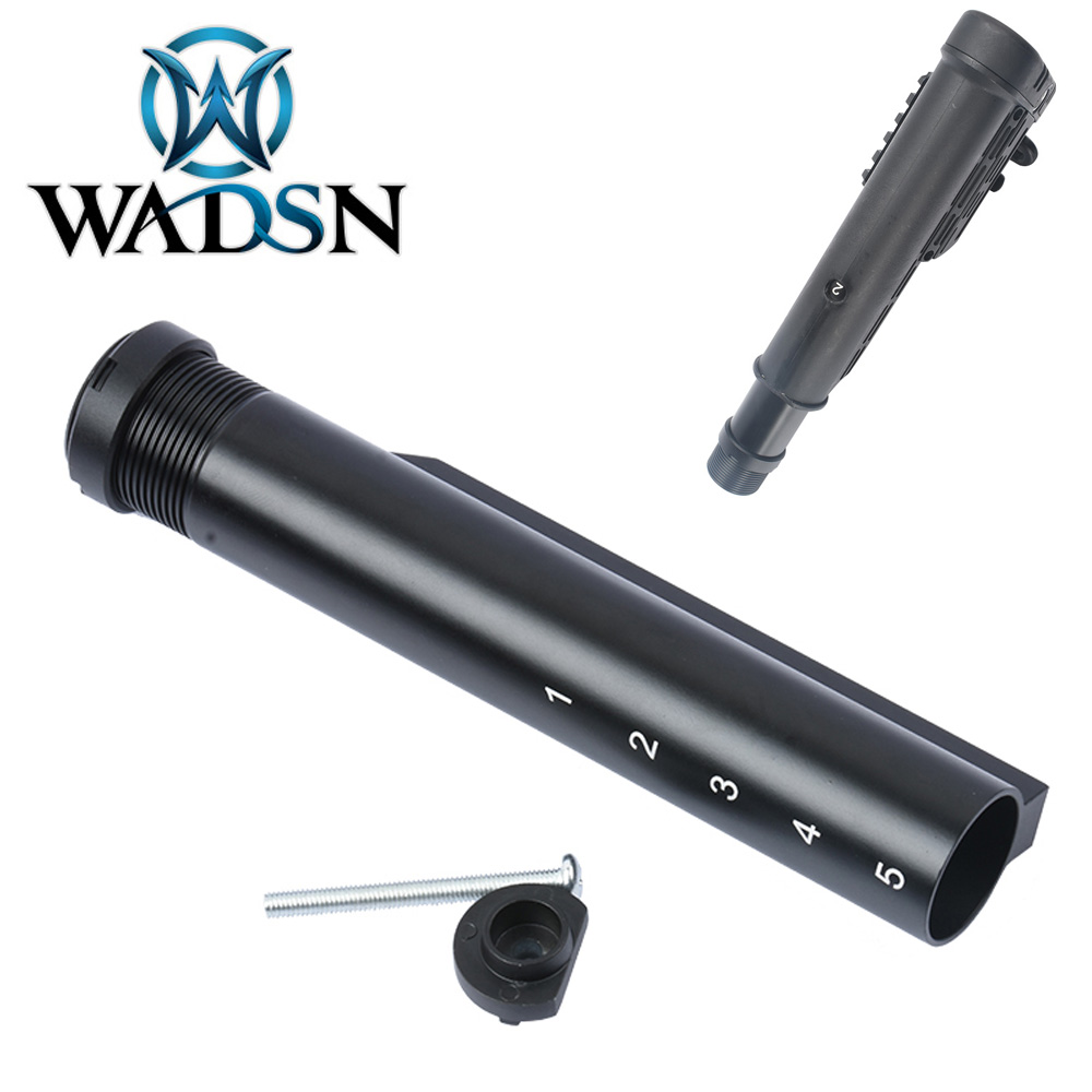 WADSN 6 Position Metal Buffer Tube For M4/M16 Series Airsoft AEG Rifles Retractable Stock ME07001 Shooting Paintball Accessories