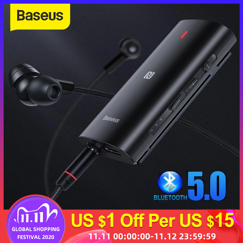 Baseus Bluetooth 5 0 Adapter 3D Stereo Sound Wireless Receiver Type C 3 5mm Jack Earphone ACC SBC Audio Music Bluetooth Adapter