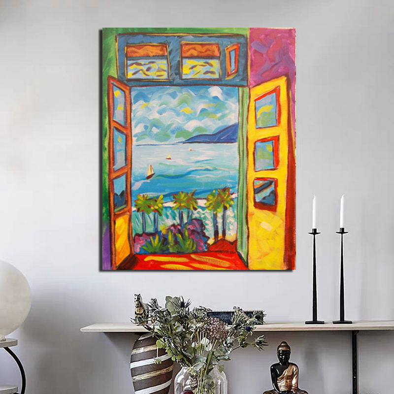 Famous Painter Matisse Landscape Painting Sight Outside The Window Wall Art Canvas Posters And Prints Canvas Painting Decorative Pictures For Office Living Room Home Restaurant Sofa Background Wall Painting Decoration
