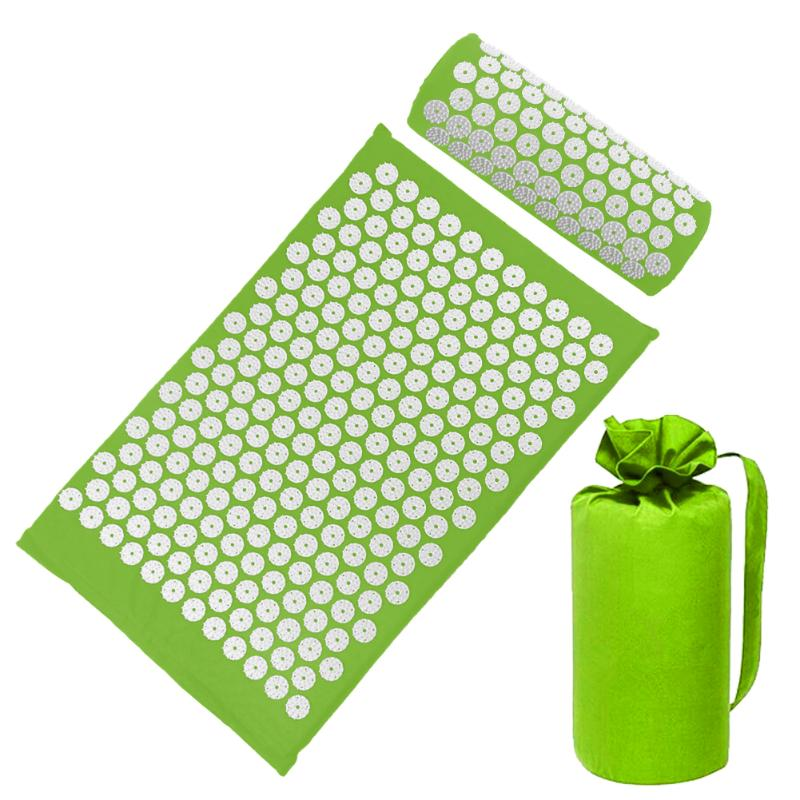Acupressure Massage Mat with Pillow set to body Relaxation to Release Stress and Tension 48