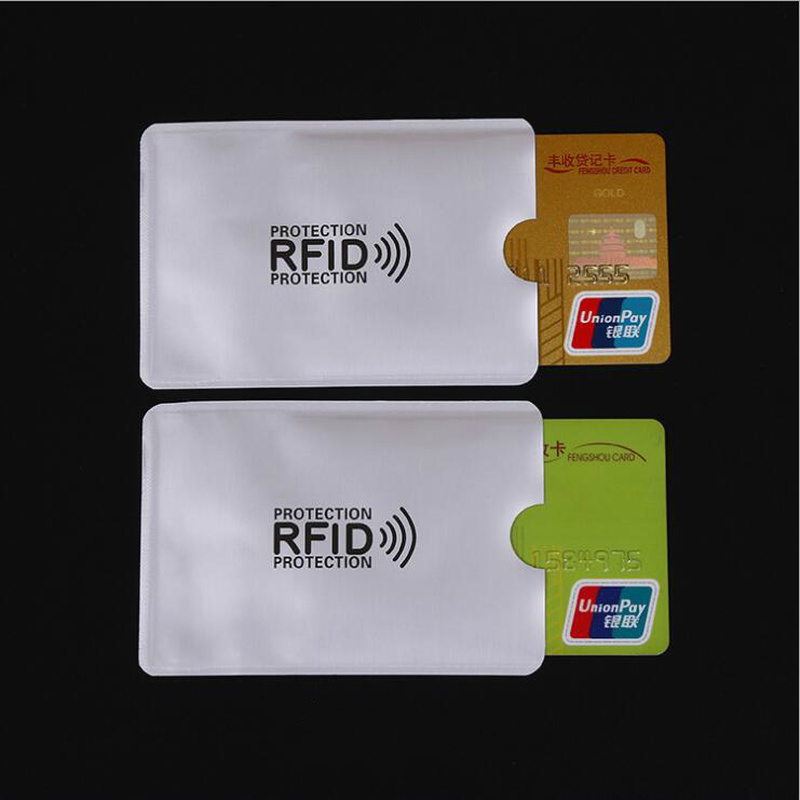 10pcs/lot RFID Blocking Protect Credit Card Sleeve Shielding NFC Bank Unauthorized Identity Theft Anti Degaussing Card Holder