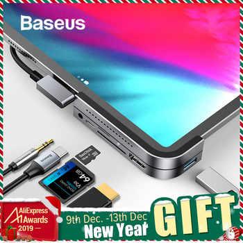 Baseus USB C HUB to USB 3.0 HDMI USB HUB for iPad Pro Type C HUB for MacBook Pro Docking Station Multi 6 USB Ports Type-C HUB - Category 🛒 Computer & Office