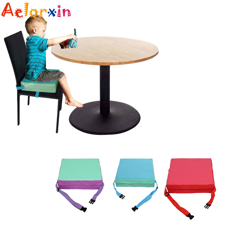 Soft  Chair Pad Chrilren Increased Height Baby Children Dining Cushion Adjustable Removable Chair Booster Cushion Pram Chair Pad