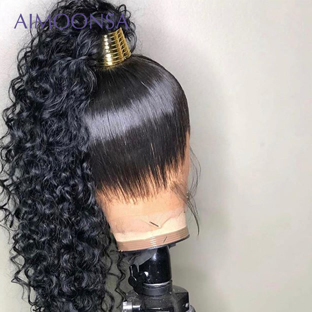 Curly Full Lace Human Hair Wigs For Women Natural Black Long Malaysian Remy Hair Wigs With Baby Hair Preplucked Lace Wig