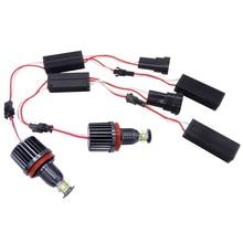 2X H8 Error Free 40W XPE Chips LED Angel Eye Marker Lights Bulbs For BMW E60 E61 E70 E71 E90 E92 E93 X5 X6 Z4 M3 Car Accessories