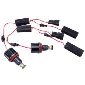 Image 1 - 2X H8 Fehler Kostenloser 40W XPE Chips LED Angel Eye Marker Lichter Lampen Für BMW E60 E61 E70 E71 e90 E92 E93 X5 X6 Z4 M3 Auto Zubehör