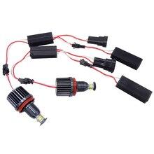 2X H8 wolne od błędów 40W XPE chipy oczy anioła LED światła sygnalizacyjne żarówki dla BMW E60 E61 E70 E71 E90 E92 E93 X5 X6 Z4 M3 akcesoria samochodowe