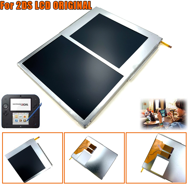 LCD Screen For 2DS Video Games Display Replacement Accessories Top Bottom Upper Lower LCD Screen Panel Only For 2DS