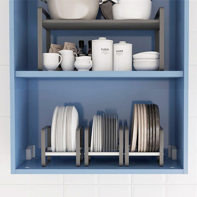 Kitchen Organizer Cabinet Plates Dishes Drying Rack Holder Drainer Goods For the Kitechen Storage And Order Accessories 2