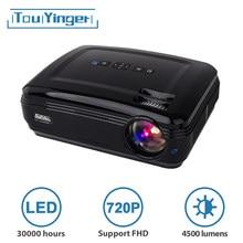 Touyinger t3 4500 lumens 1280*768 led mostrar dados hd tv projetor vga usb 720p cinema em casa beamer suporte 1080p vídeo hd completo