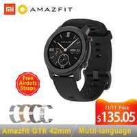 Globalna wersja Amazfit GTR inteligentny zegarek 42mm 5ATM 24 dni bateria GPS i GLONASS inteligentny zegarek kobiet zegarek mężczyzn