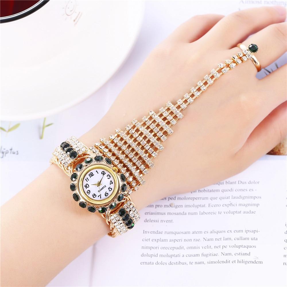 Vogue zegarki damskie luksusowa dekoracja bransoletka pierścionek moda zegarek markowy Ms prezent dziewczyna elegancki zegar gwarantowana tania sprzedaż