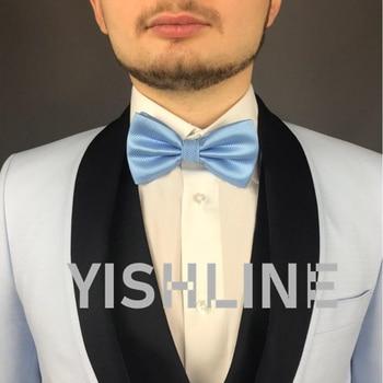 luxury Bright Silk Bow Ties 2 pcs Set 3