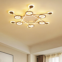 New Modern LED Ceiling Lights Brown Ceiling Lamp for living room bedroom Aluminum Acrylic Nordic led lamp lamparas de techo недорого
