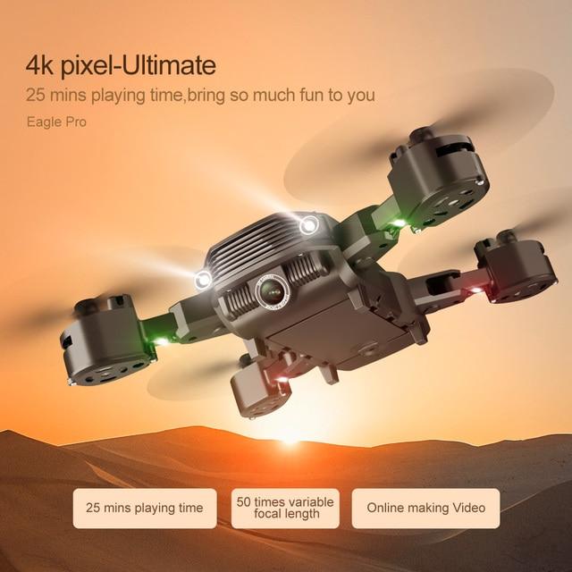 2021 novo rc drone ls11pro wifi fpv com 4k hd câmera hight hold modo um retorno chave dobrável braço quadcopter zangão para o presente 6