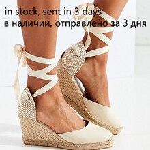 Alpercatelle sandálias de cinta de tornozelo das mulheres confortáveis chinelos das senhoras sapatos casuais respirável linho cânhamo canvas bombas