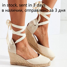 Womens Espadrille Ankle Strap Sandals Comfortable Slippers Ladies Womens Casual Shoes Breathable Flax Hemp Canvas Pumps