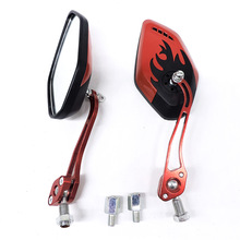 2PCS/Set 360 Degree Rotation Universal Motorcycle Rearview Mirrors Scooter Rear View Side Back 8 / 10mm