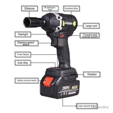 Power-Tools Impact-Wrench Electric 288VF Household-Wrench Cordless Li-Ion-Battery Switch