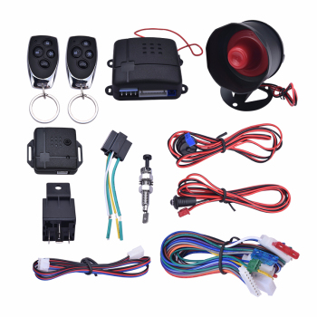 Car Alarm Vehicle System 1-Way Remote Central Door Lock Keyless System With 2 Remote Control Burglar  Protection Security System chadwick one way car alarm security system for lada toyota suzuki universal remote control door lock keyless entry system 8171