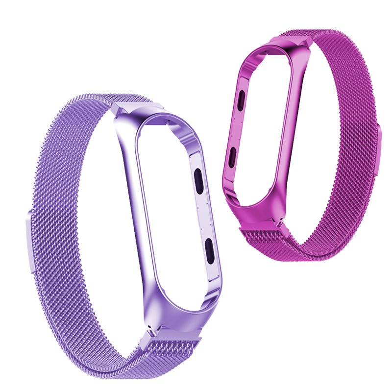 Mi Band 4 Bracelet Milanese Loop браслет Metal Bands Smart Watch Straps Stainless Steel Belt For Xiaomi Miband 3 4 Wrist Band