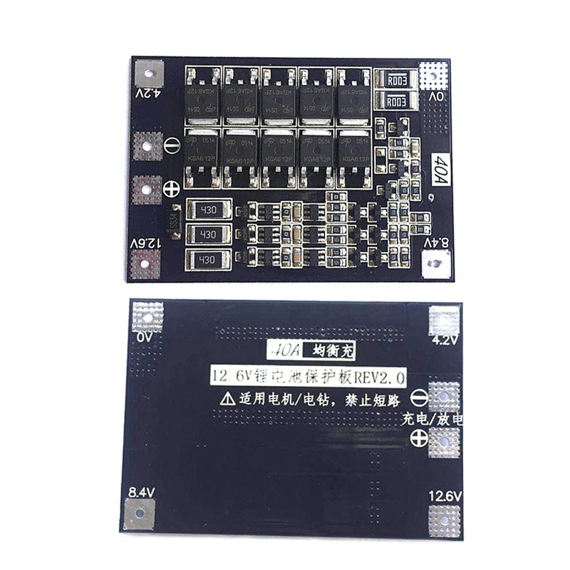<font><b>BMS</b></font> 3S <font><b>4S</b></font> <font><b>40A</b></font> 50A 18650 <font><b>lifepo4</b></font> iron phosphate Lithium Battery Protection Equalizer Board <font><b>BMS</b></font> 3.2V 3.7 balancer With balanced image
