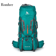 Large Capacity Camping Hiking Trekking Rucksack Backpack  Mountaineering Bag Outdoor Backpack Hiking Camping Tent aluminum 80L