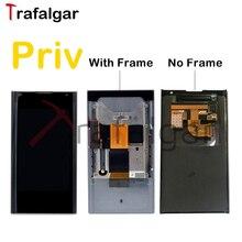 Oryginalny ekran do wyświetlacza LCD BlackBerry Priv montaż digitizera ekranu dotykowego do BlackBeery Priv LCD z wymianą ramki