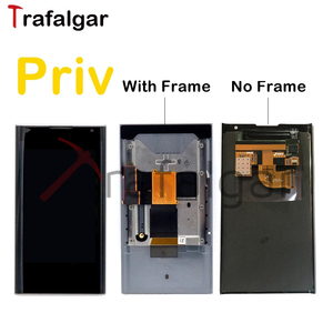 Image 1 - Écran dorigine pour BlackBerry Priv LCD écran tactile numériseur assemblée pour BlackBeery Priv LCD avec remplacement de cadre