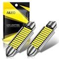 AILEO 2 шт. C5W светодиодный CANBUS 31 мм 36 мм 39 мм 42 мм C10W светодиодный лампы 4014 чип 12 в LED лампа для чтения интерьера автомобиля светильник белый 6000k О...