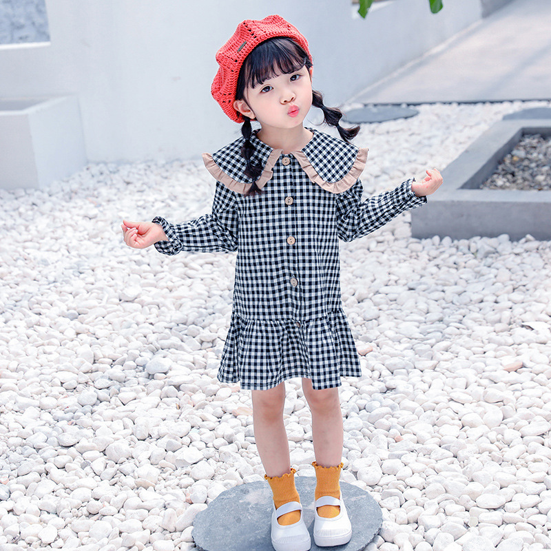 School Clothing Baby Girls Dress Long Sleeve Toddler Girls Princess Dresses Cotton Children Shirt Girls Party Dress Kids
